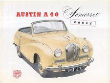 Austin A40 Somerset Drophead Coupe 1952-54 Original UK Sales Brochure Pub No 929