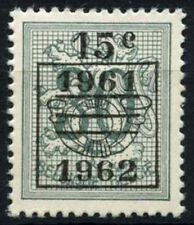 Belgium 1961 SG#1768 15c On 30c Grey-Green Lion Definitive MNH Pre-Cancel#D48261