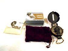 Compass-Original Box/Pouch/.Instructions-Lensatic