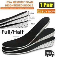 Men Height Increase Insole Heel Pad Lift Invisible Shoe Insoles Taller Inserts