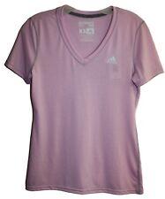 Adidas Womens Ladies Ultimate Tee Pink V-Neck Short Sleeve T-Shirt Sz XS NWT
