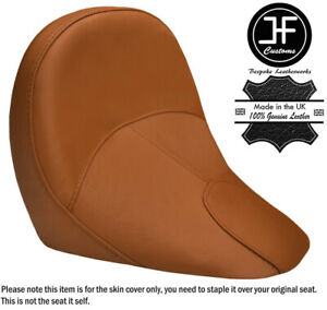 TAN LEATHER CUSTOM FITS INDIAN SCOUT SIXTY 60 16-19 FRONT RIDER SEAT COVER