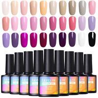 LILYCUTE Pure Tips Gel Polish Purple  Long Lasting Nail Art Soak Off 8ml