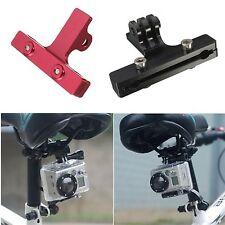 1x Sella Bici In Alluminio Ferroviario CAMERA BICI Sedile Mount per GoPro 2 3 4 PLUS XIAOMI