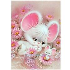 5D DIY Diamond Painting Pink Flower Animal Embroidery Cross Crafts Stitch Home