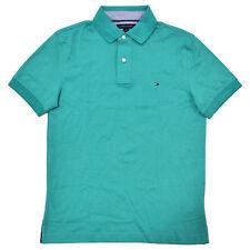Tommy Hilfiger Mens Polo Shirt Custom Fit Interlock Knit Short Sleeve Flag Logo