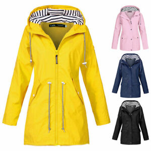 S.IKRR Friesennerz Damen wasserdicht Regenmantel Regenjacke Damen Outdoor PU Parka Windbreaker Women Raincoat