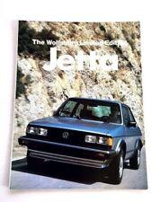1983 VW Volkswagen Jetta Wolfsburg Limited Edition Car Sales Brochure Catalog