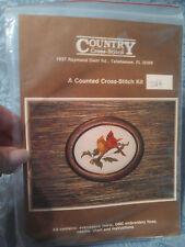 counted cross stitch kit Cardinal bird pair