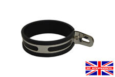 Stainless Motorcycle Exhaust Hanger - P Bracket 100mm Offset Hanging Strap