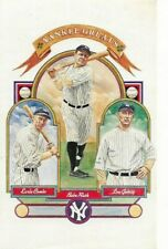 Babe Ruth Lou Gehrig Earle Combs Perez-Steele New York Yankees Greats Postcard