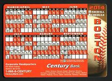 Boston Red Sox--2014 Magnet Schedule