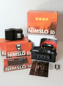 Boxed 35mm Nimslo 3D Camera with Opti-Lite Flash & Instruction Manuals