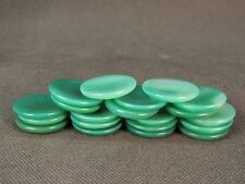 Chinese 5 Green Agate Snuff Bottle Dishes