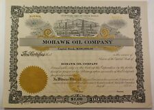 Mohawk Oil Company Winchester Kentucky Stock Certificate Serial Number 81