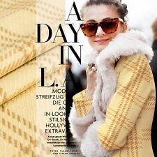 Yarn-dyed pure wool fabric,plaid pattern,british plaid style,light brown,yardage