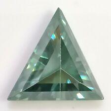 Fancy Green Loose Moissanite Ring/pendant Triangle Cut 3.28Ct 13.04x10.63mm Vvs1