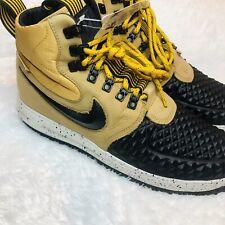 Nike Lunar LF1 Air Force 1 Duckboot '17 Metallic Gold Black Tan 916682-701 Boots