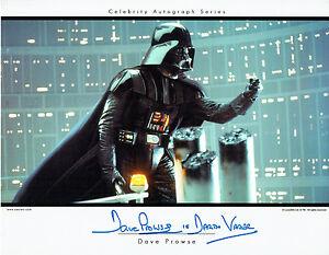 Dave PROWSE SIGNED Autograph Darth VADER Film Star Wars Card PRINT AFTAL RD COA