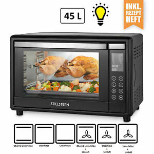 B-Ware Mini-Backofen (45 Liter) Umluft, LED Display, 2000W