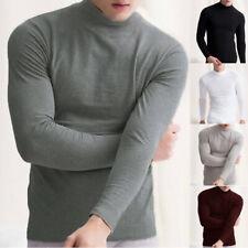 США, мужские термобелье с длинным рукавом черепаха шеи майки колготки, футболка, топы