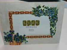 New Longaberger Homestead Basket Weave Floral with Basket Rare Picture Frame