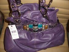 Vintage Kathy Van Zeeland Purse High Life Belt Shopper Viola Purple H42805 (NWT)
