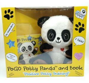 Pogo Potty Panda and Book Positive Potty Training Talks Washable New in Box NIB