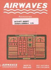 Airwaves 1/72 Junkers Ju88 A-4 etch for Italeri kit # AEC72077