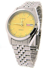 Seiko 5 Automatic Mens Watch See Through Back Jubilee chain SNK133K UK Seller