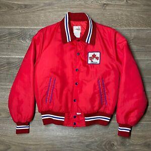 Canada Shain 1980's Vintage Rare Ice Hockey Jacket Red