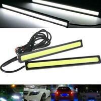 2x Super Bright COB White Car LED Light For DRL Fog Lamp Waterproof Driving C0X4