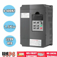 220V Single Phase To 3/Three Phase Output Frequency Converter VFD 1.5KW AC Motor
