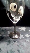 HAND Painted Jack Skellington e Sally romantico grande vino in vetro lavabile UK