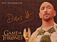 Game of Thrones Season 8 Dan Hildebrand GOLD AUTOGRAPH signed auto