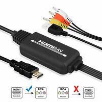 1080P HDMI vers 3 RCA AV Adaptateur de câble audio vidéo pour HDTV PS4 DVD