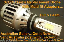 H4 Harley Motorcycle 40W-4500LM 3xCOB LED Hi/Lo Beam Headlight Globe Replacement