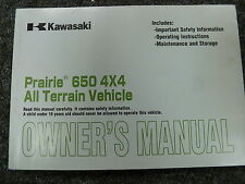 2003 Kawasaki KVF650A2 & KVF650B2 Prairie 650 4x4 ATV Owner Operator Manual Book
