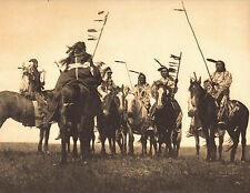 "EDWARD CURTIS Indian Tribe ""ATSINA WARRIORS"" Native American Photo Book Print"