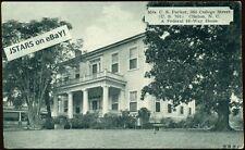 c. 1936 CLINTON, NC, C. S. PARKER HOUSE, 505 COLLEGE STREET POSTCARD