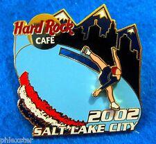 ONLINE SALT LAKE CITY WINTER OLYMPIC GAMES SLIDING ICE SKATER Hard Rock Cafe PIN