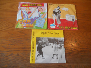 """BAD MANNERS X 3 JOB LOT 7"""" SINGLE RECORDS ALL IN PICTURE SLEEVES"""