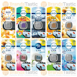 1 X AMBI PUR CAR AIR FRESHENER VENT CLIP ON KIT UP TO 30 DAYS FRAGRANCE 2ML