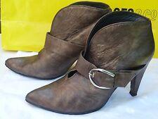 Stuart Weitzmen women's ankle boots size 6.5/39.5/085USA/metallic/heels/botas/sa