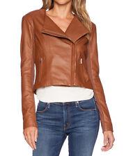 New Women's Short Body Slim Fit Biker Style Moto Real Leather Jacket - FL 108