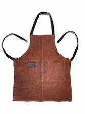 NEW Leather Grill Apron by OUTSET BBQ Apron Brown Suede Leather FREE SHIPPING
