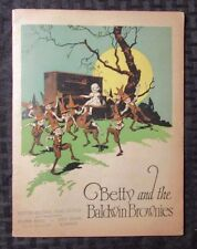 1924 Betty And The Baldwin Brownies Childrens Storybook Piano Co. PROMO VG/FN