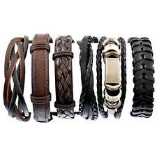 Cool Ladies Leather Stacker Surfer Beach Summer Wristband Bracelet for Men UK