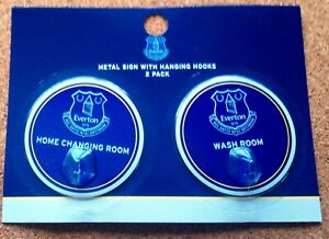 Everton FC Pair Of Robe Hooks (Home Changing Room & Wash Room) - FREE POSTAGE!