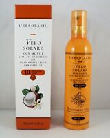 L'ERBOLARIO VELO SOLARE olio protettivo capelli spray 100ml SPF10 monoi cocco